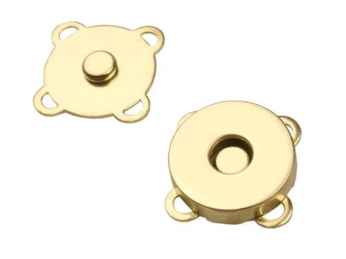 2.50 EUR//pièce 1 annäh magnétique bouton 18mm Gold