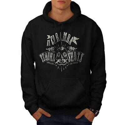 Wellcoda Tequila Shots Fashion Mens Hoodie, Worm Casual Hooded Sweatshirt