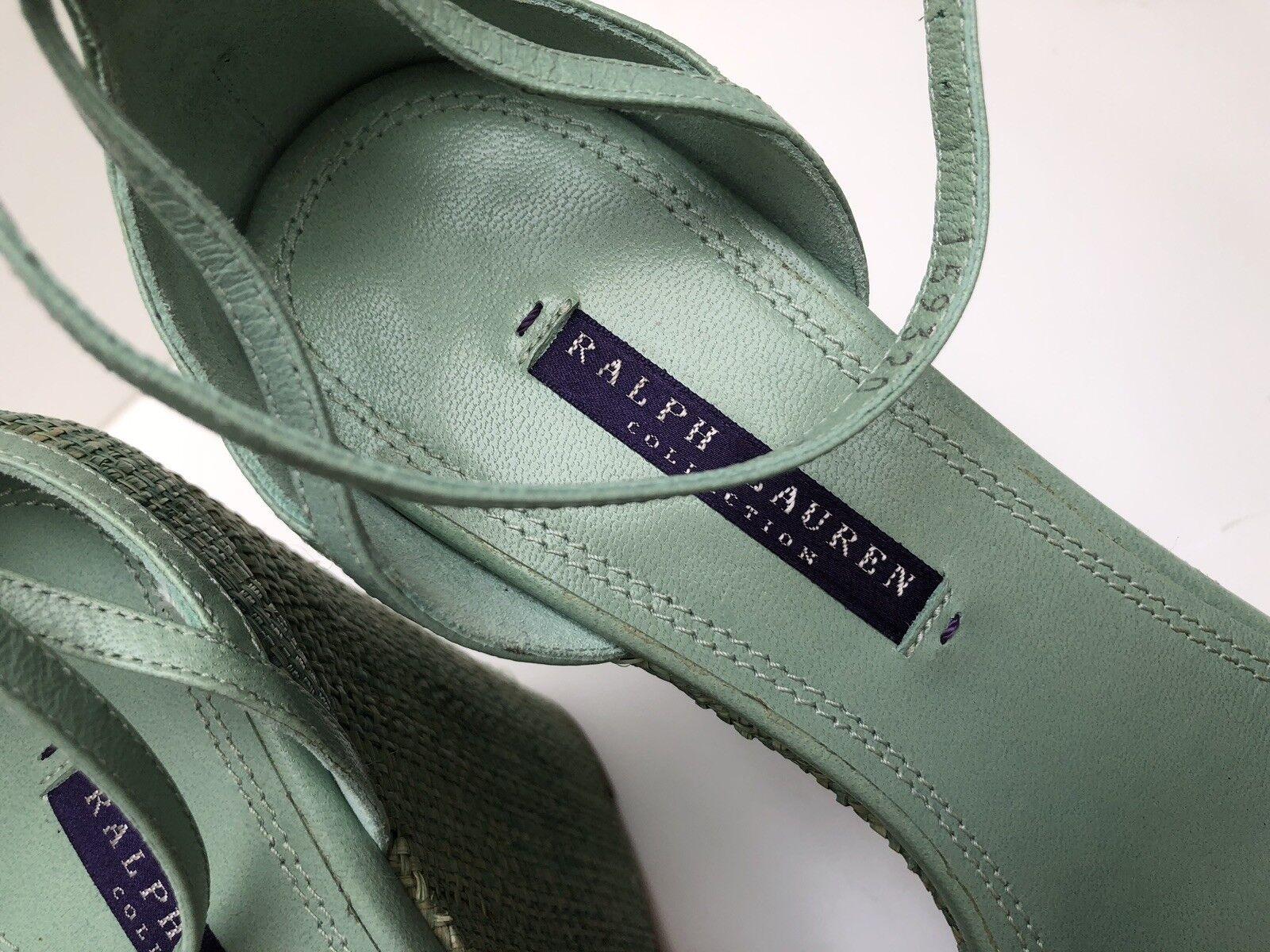 Ralph Lauren eriana Alpargatas Sandalia Tacones Tacones Tacones Altos-verde Reino Unido 6.5  PVP   Nuevo 8f130b