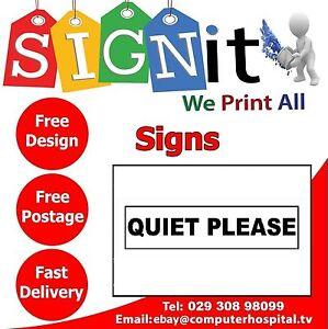 Quiet Please Door Plastic Correx Aluminium Or Sticker Sign 0107