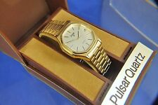 Vintage Pulsar Quartz Gents Dress Watch Circa 1980s New Old Stock NOS + Orig Box