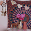 Indian-Tapestry-Wall-Hanging-Mandala-Hippie-Gypsy-Bedspread-Throw-Bohemian-Cover thumbnail 3