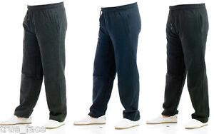 Mens-Jogging-Fleece-Bottoms-Joggers-Casual-Fitness-Trousers-Pants-Zip-Pockets