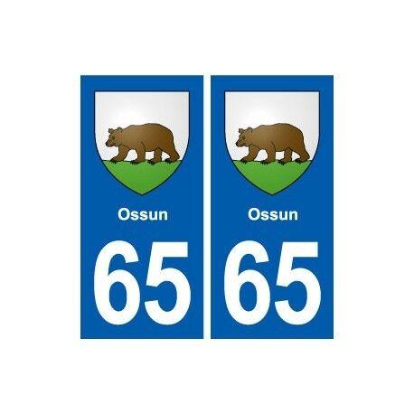 65 Ossun blason autocollant plaque stickers ville arrondis