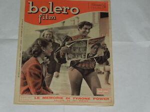 BOLERO FILM DEL 14/11/1948-LINDA CHRISTIAN E TYRONE POWER-ISA ZANNIERI-GLORIA DE - Italia - BOLERO FILM DEL 14/11/1948-LINDA CHRISTIAN E TYRONE POWER-ISA ZANNIERI-GLORIA DE - Italia