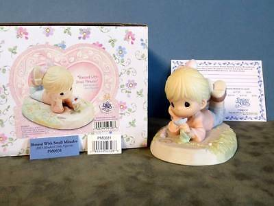 "Precious Moments ""Blessed With Small Miracles"" Figurine Crown Symbol PM0031"