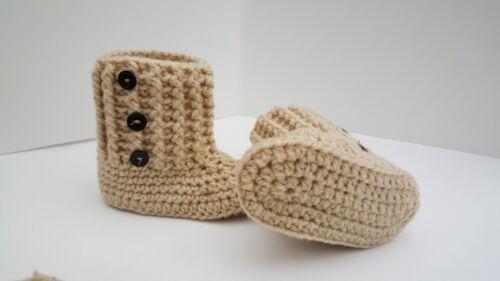 * nuevo de ganchillo botitas de bebé de niña Zapatos temprano bebé recién nacido a 12m de distancia hasta 26th puede