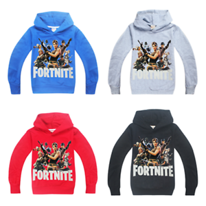 beb95f64e44 Image is loading Kids-Boys-Girls-Fortnite-Hoodies-Casual-Cartoon-SweatShirt-