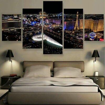 CITYSCAPE LAS VEGAS NEON NEVADA CASINO LARGE POSTER ART PRINT BB3054A