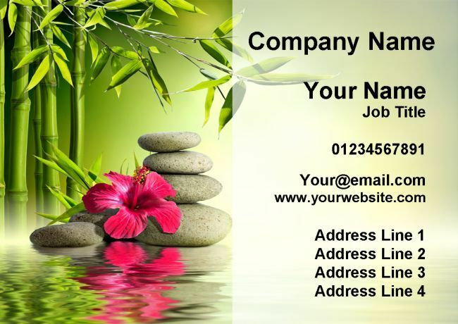 Beauty Spa Massage Treatment Salon Personalised Business Cards
