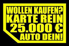 2 STÜCK AUFKLEBER NIX VERKAUF NIX KARTE MEINS!Autoscheibe yx Autohändler NICHTS