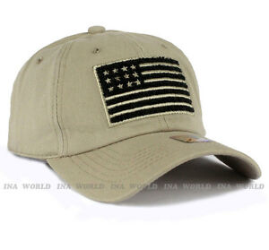 Khaki Beige USA American Flag hat Pique Snapback hat Tactical Mesh Baseball cap