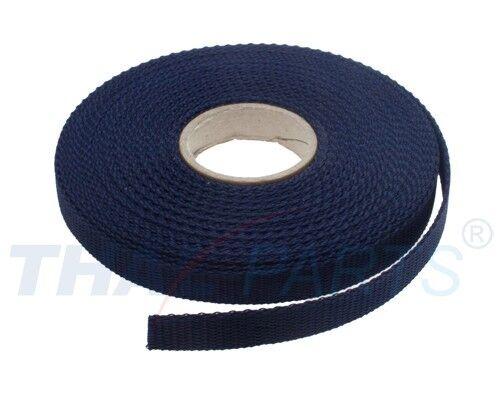 10m Gurtband 15mm Breit - ca. 1,6mm stark - Marine PP Taschengurt Taschenband