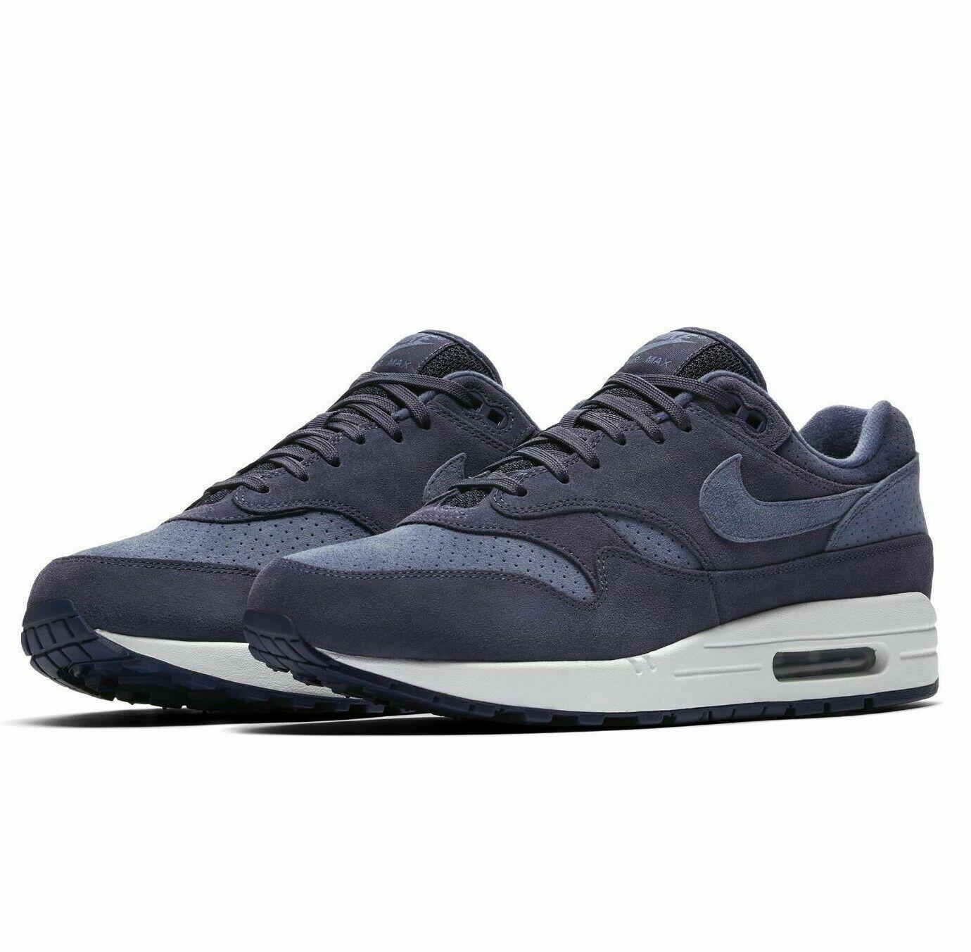 Mens Nike AIR MAX 1 PREMIUM Running shoes -Neutral Indigo -875844 501-Sz 11 -New