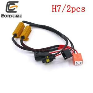 2x-H7-LED-DRL-Fog-Light-Canbus-50W-6Ohm-Load-Resistor-Wiring-Canceller-Decoder