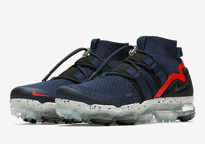 low priced 52b52 bf556 Nike Air Vapormax Utility Flyknit College Navy/Habanero Red Vapor Max Mens  Sizes | eBay