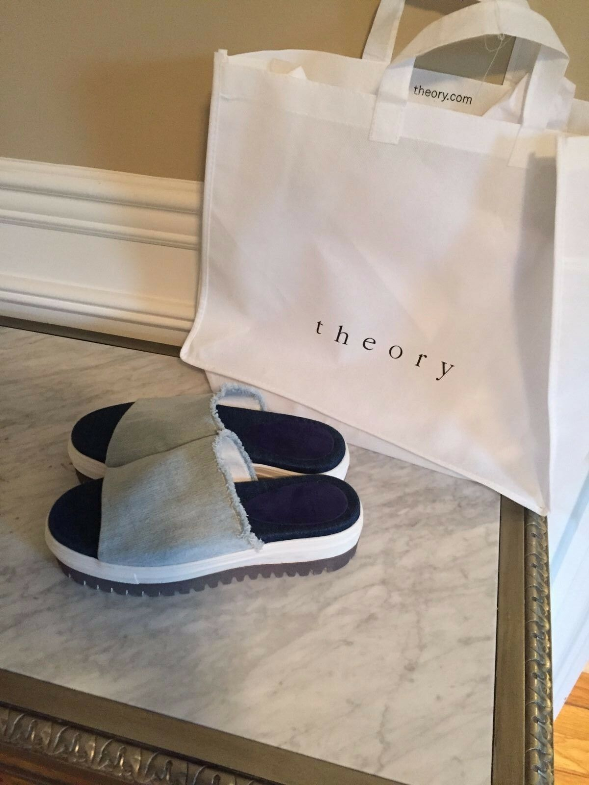 Theory Denim Jeans Platform Espadrille chaussures  New 9.5