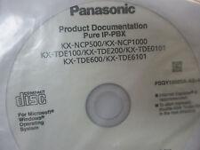 Panasonic Kx Tde100 Kx Ncp500 Kx Tde200 Ip Pbx Documentation Cd Psqy1056sa Asv