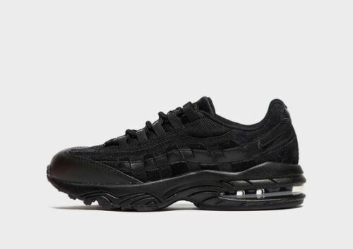 Kids Trainers 311524 055 Triple Black 100/% Authentic Nike Air Max `95 PS