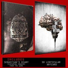 Il male all'interno di Sebastian Diario Notebook e LENTICOLARE 3d ART CARD NUOVO di zecca