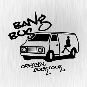 Bangbus-Official-Fucktour-Adult-Fun-Schwarz-Auto-Vinyl-Decal-Sticker-Aufkleber