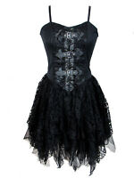 dark star gothic medieval witch black velvet lace corset