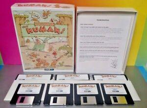 "the Humans PC IBM Tandy Game on 3.5"" & 5.25"" Floppy Disks Big Box Rare 1992"