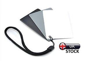 UK 18% Grey Cards Exposure Photography Digital Black White Colour Balance Camera 8307768353891