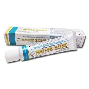 Numb zone 5 lidocaine gel 30 grams anesthetic skin for Lidocaine for tattoos