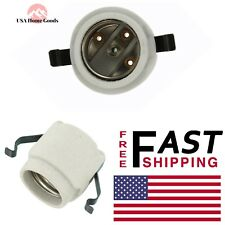 D92 American-De Rosa Lamparts 3 Piece Lamp Holder Porcelain Pull Chain