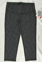 Athleta Women's Mid Rise Chaturanga Capri Leggings Pilayo Heather Black Size L