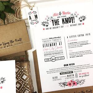 Detalles De Invitaciones De Boda Vintage Rústico De Flores Personalizado De Día O De Noche Invita A Ver Título Original