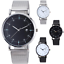 thumbnail 1 - MESH-Quartz-Wrist-WATCH-Business-Casual-Dress-Mens-Womens-Gift-Black-Silver-AUS