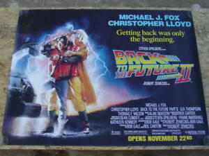 Back To The Future Part Ii 1989 Movie Poster Original Ss Unused Nm Rolled Ebay
