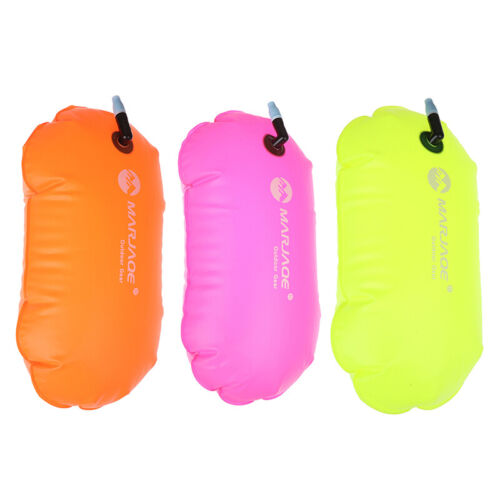 1X PVC Swimming Buoy Safety Air Dry Tow Bag Float Inflatable Signal Drift Bag~JP