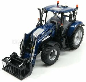 UNIVERSAL HOBBIES 1/32 NEW HOLLAND | T6.175 TRACTOR BLUE POWER WITH 770TL FRO...