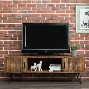 Rustic Tv Stand 65 Tvs Entertainment Center Media Cabinet Console Solid Wood 60 Ebay