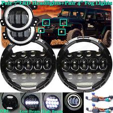 "7/""LED Headlight+4/""Fog Light Combo Hi//Lo DRL For 04-18 Jeep Wrangler LJ Unlimited"