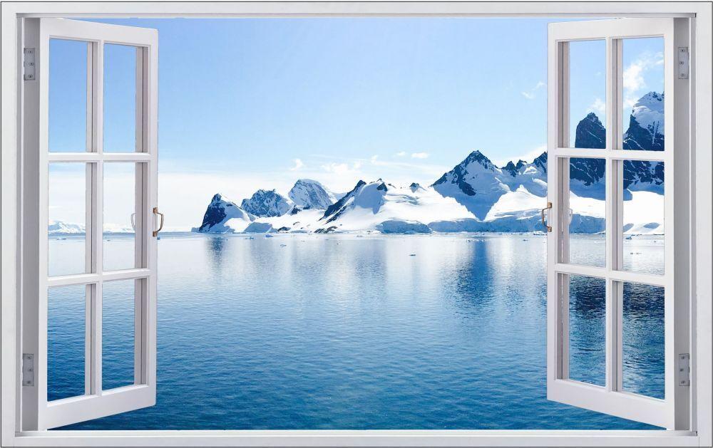 Mare Artico dell'iceberg Muro Tatuaggio Parete Adesivo Parete Adesivo f0972