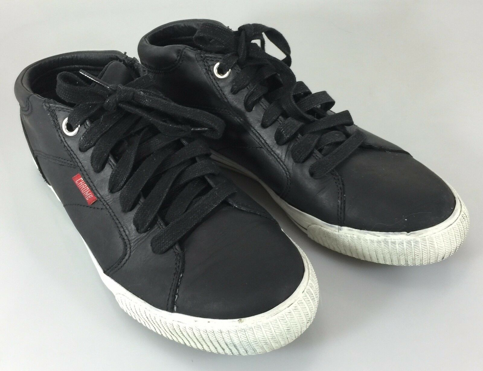 Chrome Homme 6.5 Noir Leather Gym Chaussures Sneakers Kicks