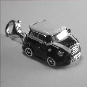 Mini Cooper 006 In Vielen Stilen Charm AnhÄnger 925 Sterling Silber Rhodiniert Mit Emaille