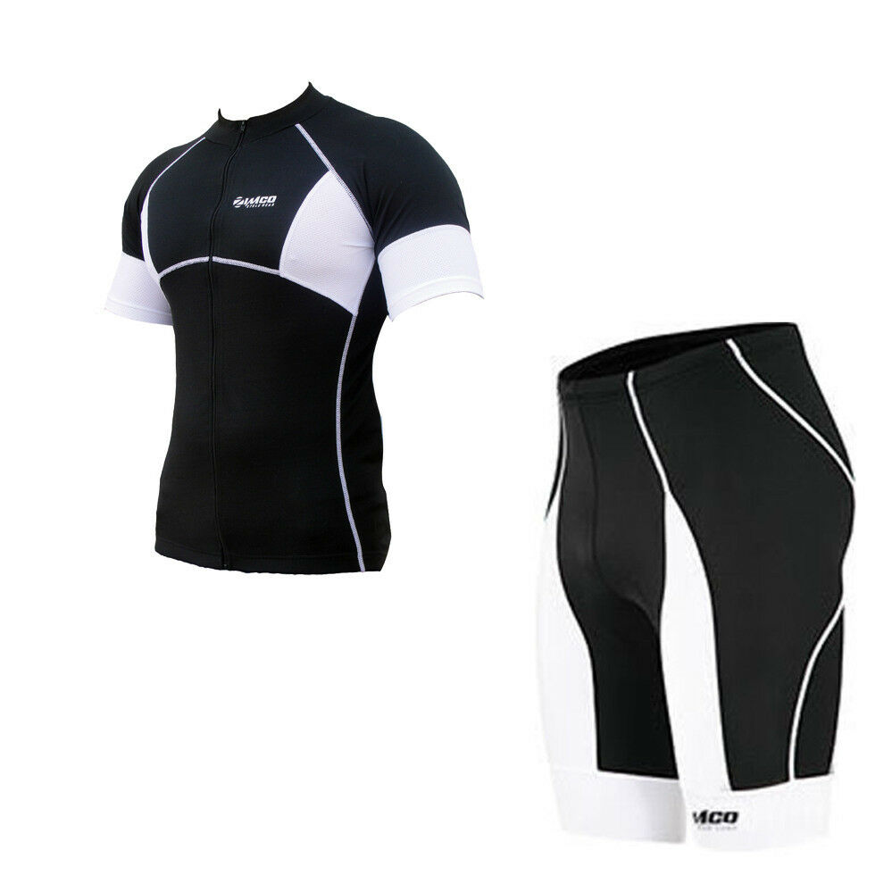 Zimco Elite Cycling Short & SS Jersey  Team Bike Shorts & CoolMax Padded B W 143  will make you satisfied