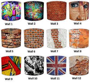 abat-jour-qui-convient-Mur-De-Briques-couettes-coussins-amp-Papier-peint