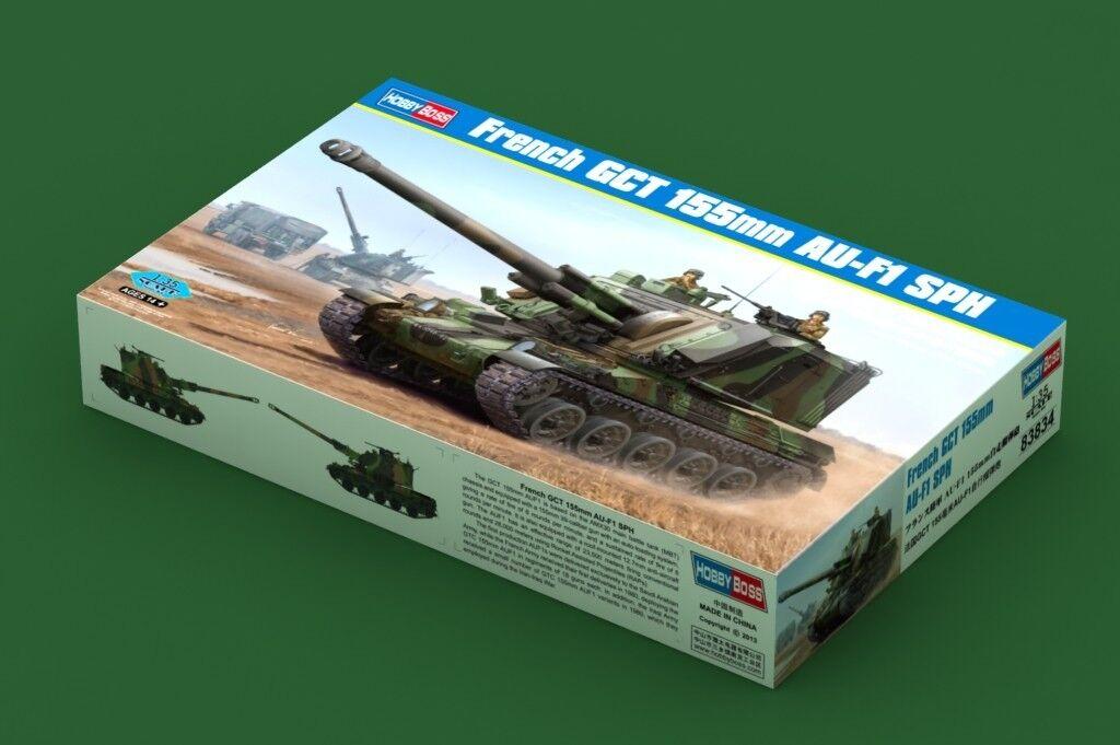 HobbyBoss 1 35th scale French GCT 155mm AU-F1 SPH plastic model kit.
