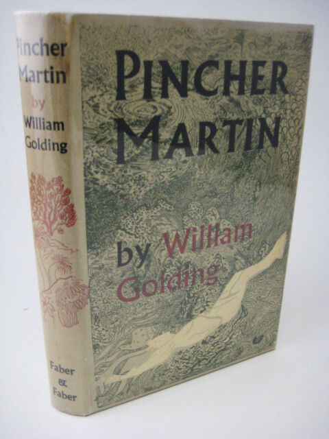 1st Edition PINCHER MARTIN William Golding FICTION 2nd Printing NOBEL PRIZE Rare