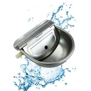 Stainless-Water-Trough-Bowl-Automatic-Drinking-For-Dog-Horse-Chicken-Auto-Fill-O