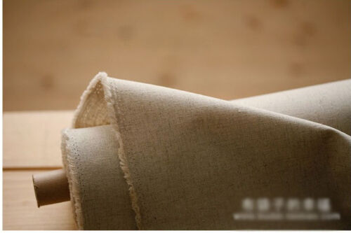 Tela de Algodón Lino-Buena calidad-para Craft Homeware Zakka en Natural Crudo