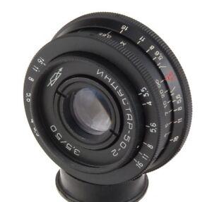 Industar-50-2-50mm-3-5-USSR-lens-M42-pancake-Pentax-Canon-Sony-A-tessar-Obiettiv