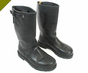 Original Bw Seestiefel Marine Stiefel Leder Knobelbecher Schuhe Motorradstiefel Sammeln & Seltenes