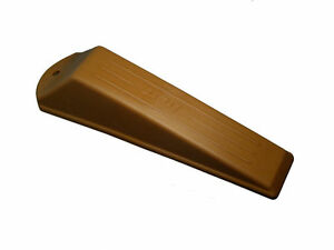 NEW 2 X Door Closer Stopper Wedge Stop Medium Brown Rubber